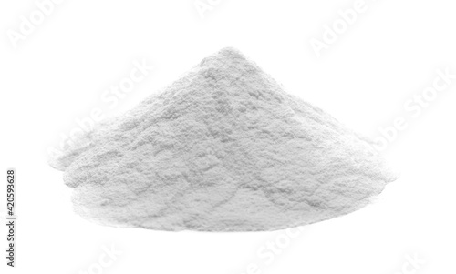 Fototapeta Sugar powder, ground isolated on white background  obraz