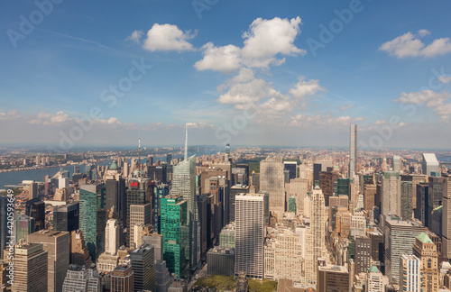Платно View of New York City from the Empire State Building, Manhattan, New York