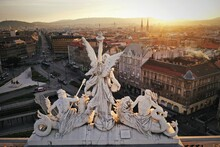 Budapest Seen From The Roof Of Keleti Station