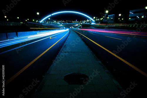Fotografia Long exposure photography on a large avenue