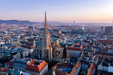 St. Stephen's Cathedral And Central Vienna.