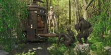 Alien Meets Chimpanzees