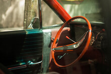 Old Vintage Car , Parked In Manhattan