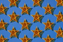 Seamless Pattern Made By Star Lanterns