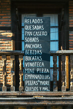 Blackboard With Tapas And Food Lettering