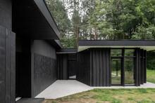 Black Villa And Entrance