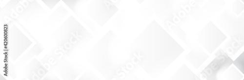 Fototapeta Abstract White background. Geometric square pattern. Bright Gray backdrop. Neutral calm vector illustration obraz