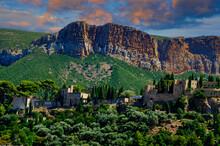 A Perched Village In Alpes-de-Haute-Provence, France