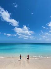 Children At Tropical Beach