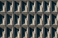 Wall Of Grey Geometric Structure
