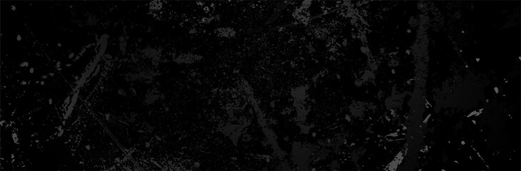 Black Grunge Background. Dirty metal surface. Dark texture. Vector illustration