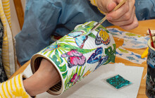 Arts And Crafts Decoupage With Kids