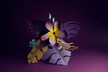 Stylized Tropical Paper Flower