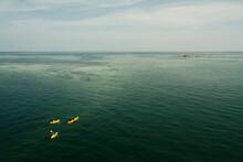 Key West At Dusk, Calm Ocean Water For Kayaking