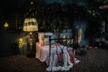 Romantic Night Scenery Outside
