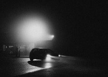 Streetlamps In The Haze