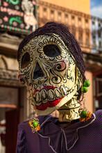 An Elaborate Paper Mache Mask