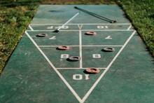 Outdoor Green Shuffleboard Game