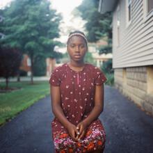 Portrait Of A Cute Black Teen