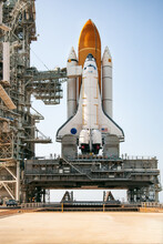 Space Shuttle Atlantis Waits On Launch Pad