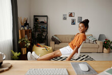 Teen Girl Staying At Home