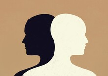 Silhouettes Of Two People