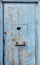 Old Blue Door In France