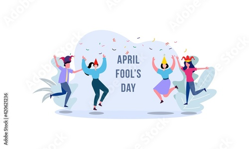 Fotografija Celebration Happy April Fools Day background design