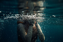 Underwater Image Of A Woman