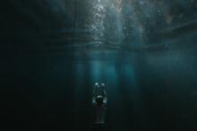 Man Freedives In Freshwater
