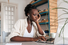 Black Woman Working At Home