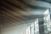 Sun Rays Coming Trough The Window