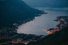 Bay Of Water At Night