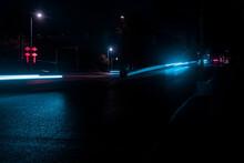 Road Under Street Lights At Night
