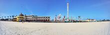 Panorama Of A Beach Boardwalk