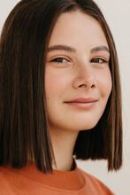 Teen Model Smiling For Camera