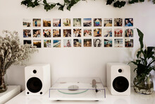 Record Player And Polaroids