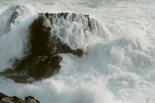 Crashing Waves On Sonoma Coast