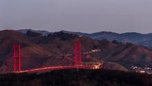 Golden Gate Bridge In Sunrise