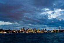 Skyline Of Seattle At Night