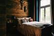 Moody Wooden Bedroom