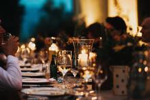Italian Skylight Dinner At Night