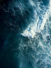 Top Down View Of Ocean Wave