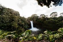 Rainbow Falls In Hilo, Big Islan Of Hawaii.