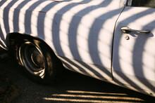 Vintage Car With Stripes