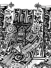 Abstract Totem Illustration Consisting Of Symbols