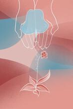 Nurturing Hands Illustration