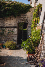 Mediterranean Architecture Of The Garden And Stone House