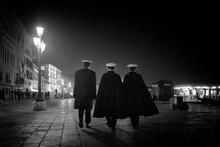 Three Venetian Officers Walking