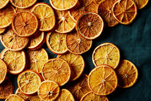 Dried Oranges Horizontal Shot